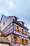 Half timbered house in alsace Royalty Free Stock Images