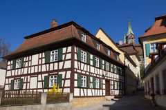 A half-timbered house in Bamberg, Germany. Stock Photo