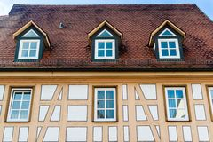 Half timbered house Stock Image