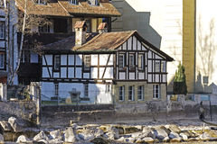 Half-timbered house in Bern Royalty Free Stock Image