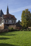 Half-timbered house. In Buedingen in Germany Royalty Free Stock Photos