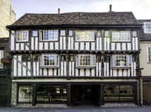 Half-timbered house in Cambridge, England Royalty Free Stock Image