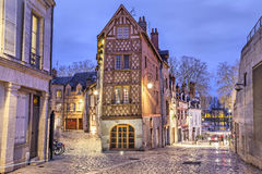 Half-timbered house in the center of Orleans Stock Photos