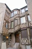 Half-timbered house in the center of Orleans Stock Images