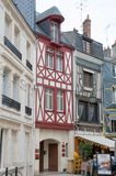 Half-timbered house in the center of Orleans Royalty Free Stock Image