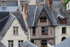 Half-timbered house in Chinon, Stock Photo