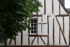 Half-timbered house in Chinon, Stock Images