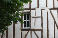 Half-timbered house in Chinon Royalty Free Stock Photography
