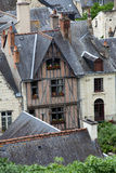 Half-timbered house in Chinon, Royalty Free Stock Image