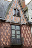 Half-timbered house in Chinon Royalty Free Stock Photo
