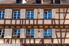 Half timbered house 3. Half timbered house in Colmar city, Alsace France Royalty Free Stock Images