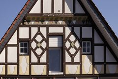 Half-timbered house in Dissen, Germany Stock Images