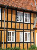 Half-timbered house in Faaborg stock photos