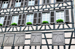 Half-timbered house facade Royalty Free Stock Image