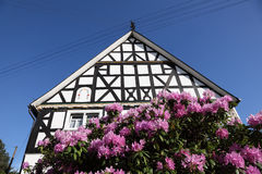 Half-timbered house in Germany. Traditional half-timbered house in North Rhine Westphalia, Germany Stock Photo