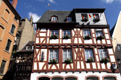Half-timbered house in Germany Stock Images