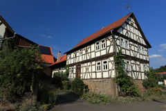 Half-timbered house in Germany Royalty Free Stock Image