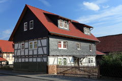 Half-timbered house in Germany Royalty Free Stock Images