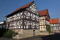 Half-timbered house in Germany Royalty Free Stock Photo