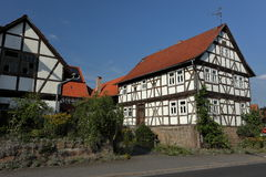 Half-timbered house in Germany Stock Image