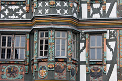 Half Timbered House in Germany. Half Timbered House in Idstein, near Frankfurt, Germany. Very detailed colorful, hand carved woodwork Royalty Free Stock Photography