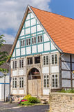 Half-timbered house in the historic center of Blomberg Stock Image