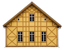 Half timbered house_iso Royalty Free Stock Photo