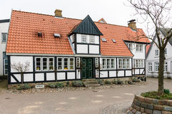 Half-timbered house in Kappeln, Schleswig-Holstein Royalty Free Stock Photos