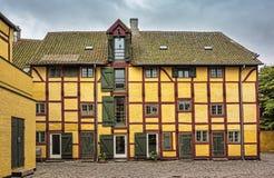 Half-timbered house in Kerteminde Royalty Free Stock Images
