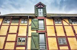 Half-timbered house in Kerteminde. Half-timbered house in the village of Kerteminde, Denmark Stock Photo