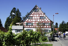 Half-timbered house on the Lake Constance Royalty Free Stock Images