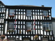 Half Timbered House (3). A half timbered house in Ledbury, Herefordshire using resined wood Stock Photo