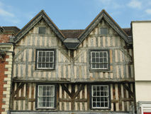 Half Timbered House (1). A half timbered house in Ledbury, Herefordshire using unresined wood Royalty Free Stock Images