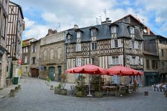 Half-timbered house in Limoges, France stock photo