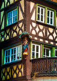Half timbered house in Lohr am Main in Spessart Mountains, Germany Royalty Free Stock Images