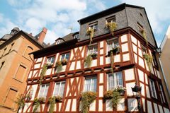 Half-timbered house in Mainz Stock Photos