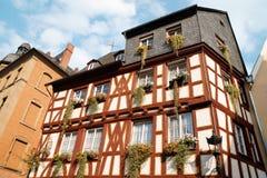 Half-timbered house in Mainz Stock Photos