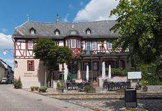 Half timbered house on market square in kiedrich germany.  royalty free stock photo