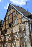 Half-timbered house in need of renovation Stock Photo