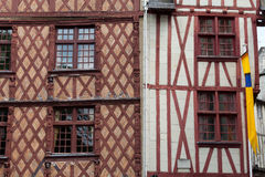 Half-timbered house in Tours Royalty Free Stock Photo