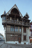 Half-timbered house on the town square Stock Photos