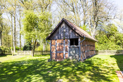 Half timbered house under clear Stock Photography