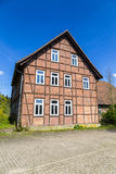 Half timbered house under clear Royalty Free Stock Photography