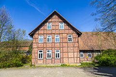 Half timbered house under clear Royalty Free Stock Images