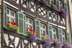 Half timbered house in upper Franconia, Germany Stock Image