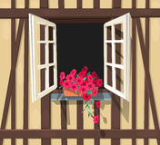 Half-timbered house window Royalty Free Stock Photography