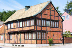 Half-timbered house. In Ystad in Southeast of Sweden Stock Images