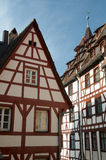 Half Timbered Houses Stock Photo