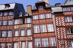 Half-timbered houses, Rennes. Half-timbered houses in Rennes, Brittany, France Stock Photography