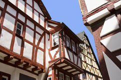 Half-timbered houses stock photo